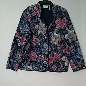 Alfred dunner SZ 16 Light Quilted Jacket Blue